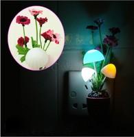 Novelty modern sconce wall nightlights ornamental flowerpot wall lamps solar 220V led lights twilight fixtures US plug b6 19562