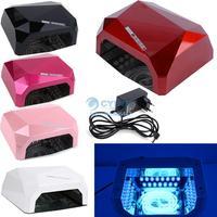 High Quality New 18W Nail Art Led UV Lamp Acrylic Gel Salon Curing Light Time Dryer Polish SPA Watt 220V White #6 SV002609