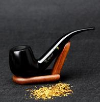 10 Tools Set Ebony Wood Smoking Pipe 14cm Handmade Black Smoking Pipe 9mm Filter Smoking Pipe Set
