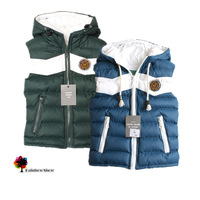 2014 New Children Clothing Spring Fall Winter kids Thick Cotton Vest  Patchwork Hooded Children Waistcoat