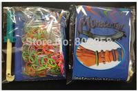 1000set/lot  monster tail loom band KIT  DIY loom rubber bands refill  pack DIY bracelet-opp bag