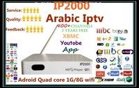 Quad core,latest Arabic IPTV box,Qnet IPTV, arabic tv box ,android tv box,support 550+arabic channels,better than loolbox,ip2000