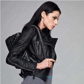 Jaqueta De Couro FeМиниna Slim Leather Jacket Женщины Casaco 2014 Autumn Winter ...