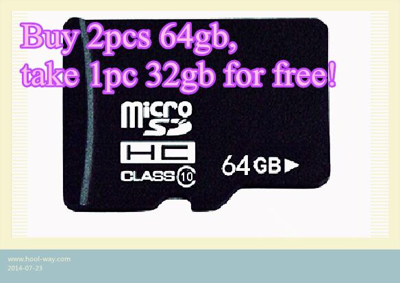 Envío gratuito de tarjetas de memoria/mini micro sd tf tarjeta de promoción para comprar pc 2 64gb tomar 1pc 32gb sd tarjeta de forma gratuita