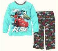 7-11 Years Old Big Sizes Boy's Long Sleeve Autumn Nightwear Kid's Cartoon Sleepset, 5 Sizes/lot - CMPA429/431/442/443/445/446