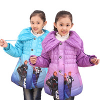 New 2015 children outerwear coats,kids jackets,fashion  warm cartoon jacket,girls winter coat,baby clothing,free shipping