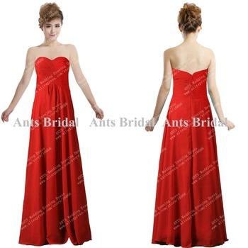 Hot Sale Long Chiffon Bridesmaid Dress 2013 Promotion Sweetheart Pleated BD557