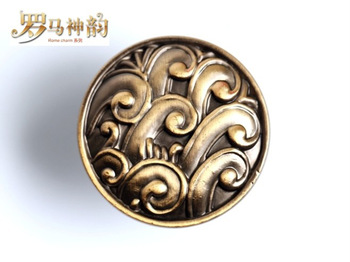 Single Hole Antique Bronze Color Cabinet Knob and Furniture Hardware,Drawers Pull and Handle Diameter  35 mm