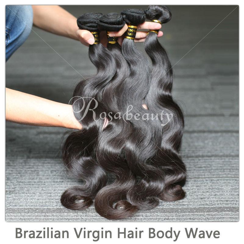 Queen Hair Products 3PCS Lot Brazilian Virgin Hair Body Wave 100% Human Hair Weaves Wavy Unprocessed Virgin Hair Free Shipping(China (Mainland))