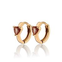 Aliexpress Sale Heart Zircon Earrings For Children 18K Gold Plated Baby CC Hoop Earring Bijoux Brincos Free Shipping (E18K-85)