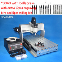 2013 Cost-effective 3040 cnc router with ballscrew cnc engraver / cnc engraving machine / cnc drilling and milling machine