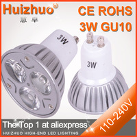 [Huizhuo Lighting]Free shipping high quality  dimmable 3W  GU10 / MR16 / E27 dimmable led/cheap led spotlight bulb