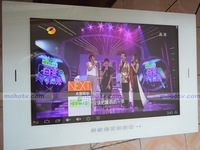 New Arrival! 19'' Waterproof Bathroom Smart LCD TV  Android OS With HDMI USB , Mirror finish , Free EMS / UPS to Brazil Russian