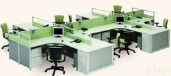Factory customize 8 seats pffice Work-station office partition(China (Mainland))