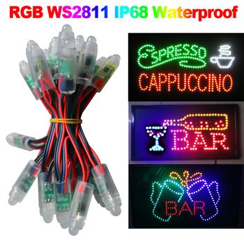 12mm WS2811 RGB LED Pixel Module Light, DC5V IP68 waterproof 50pcs a string Warranty 2 year