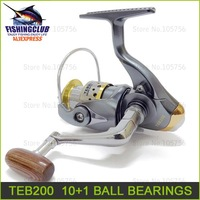 fishing reels free shipping 100% new plastic fishing reel 10+1 Ball bearing spinning reels 5.1:1 fishing tackle TEB200 wholesale