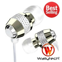 100x Wallytech For iPod nano Metal Earphone For iPod Touch earphones 3.5mm jack Free Shipping by DHL (WEA-081 )