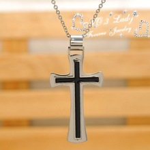 Christmas Gift Free Shipping 316l Stainless Steel Cross Necklace for men women Fashion Jewelry Wholesale WP316