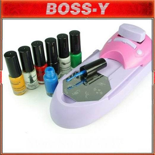 nail stamping printing machine polish , Nail Art best price free shipping [drop ship](China (Mainland))