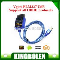 2014 Highly Recommend Vgate ELM327 USB OBD Scan Diagnostic Scanner Work With OBD2 Vehicle Vgate ELM 327 USB OBD2 Scan