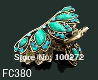 Wholesale Women's crown rhinestone alloy hair claw hair clip hair ornament  free shipping 12pcs/lot  FC380