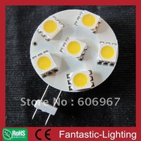 DC/AC version 6pcs SMD5050 G4 lamp.Ultra bright LED bulb 1W SMD5050 light 12V 24VDC 200pcs/lot DHL free shipping