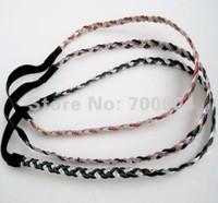 SALE 2014 High quality practical Hot sale PU leather Elastic Braided Headband,10 pcs MOQ,Free shipping