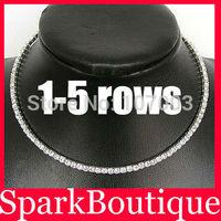 Crystal Rhinestone Necklace Wedding Chokers Necklace Statement Necklace - SKBTQ