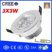 3*3W LED Ceiling Light  500-650lumen Ceiling Lamps Downlight CE&RoHS AC85-265v Warm White Cool white Ceiling LED Lights For Home