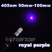 Free shipping 50mw 100mw Blue laser pointer TD-BP-02 405nm blue laser pen