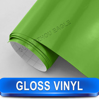 Professional Vinyl Glossy Green Wrapping Foil Vinyl Film Car Wrap 1.52 X 30 Meter