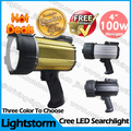 Free Shipping Colorful  Aluminum 100w halogen handheld spotlight  Portable halogen lamp for hunting camping hiking marine