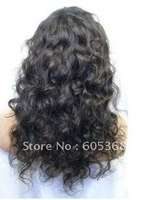 2012 hot selling 16inch brazilian virgin remy hair wavy fashion full lace wig for woman
