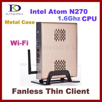 New Mini Desktop Computer, Industrial PC with Intel Atom N270 1.6Ghz, 1GB RAM, 8GB SSD, WIFI, Windows XPE