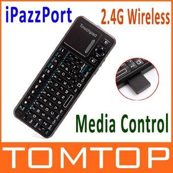iPazzPort Mini Handheld 2.4G  Wireless Keyboard + Laser Light  Pen for Google TV