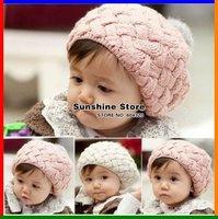 winter rabbit fur beret store hat with fur for kids beanies for baby girls caps,beret photo props #2C2511  10 pcs/lot (3 colors)
