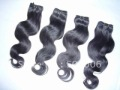 18&quot; 100% indian remy human hair weft extension Double Drawn natural black color free shipping RECOMMENED HIGHTLY!!!