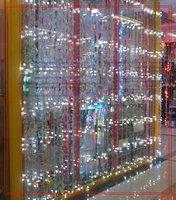 3 PCS 110V US / 220V EU 480 LED 3*3M Curtain Waterfall LED Light , Party Wedding Water Flow Decoration Background , White Blue