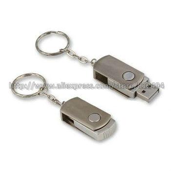 10pcs/lot Mini Metal Swivel USB Thumb Drive U Disk 2GB 4GB 8GB 16GB