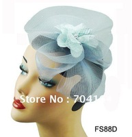 Free shipping, assorted color ,2012 Fashion Hair Accessories, Veil Royal Hat Fascinator