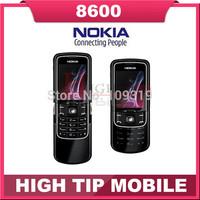 Unlocked Original Nokia 8600 Luna Mobile cell phone english russian keyboard&language Singapore post Free shipping