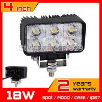 2X 18W LED Work Light IP67 for Boat ATV Tractor 12v 24v Led Worklight Lamp Offroad Fog External Light Save on 27w 36w