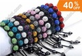 Wholesale Handmade 7 Crystal Tresor Paris Shamballa Bracelet Mixed 11 Colors 22pcs/lot