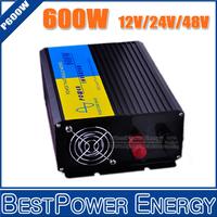 Free Shipping, 600W Pure Sine Wave Power Inverter DC12V/24V/48V Input, AC110V/220V Output Off Grid Solar Wind Inverter Converter