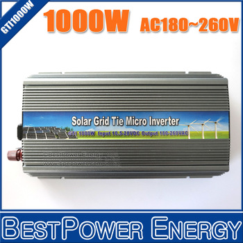 Free Shipping, New 1000W Grid Tie Solar Inverter, On Grid Inverter 1KW DC10.5~28V to AC180~260V Grid Tied Inverter, CE/RoHS