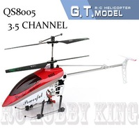 QS8005 Big  Deluxe 105cm 3.5Ch Gyroscope System Metal Frame RTF RC Helicopter Toy qs 8005 with LED lights Free Shipping
