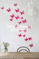 3D Wall Sticker Butterfly 30pcs Home Room Decor Decorations Pop up Stickers (S) 5cm for Door Closet Fridge Car 10 colors Acrylic