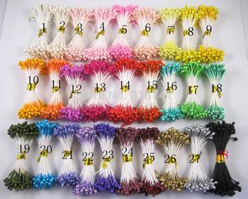 multicolor 3mm pearl flower stamen floral stamen cake decoration for DIY($5.99/1800pcs or $3.49/900pcs)