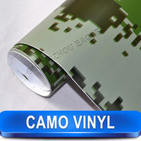 Camo Military Camouflage Carbon Fiber Skin Sticker Protector Cover For Car / 1.52 x 30 Meter / Free Shipping
