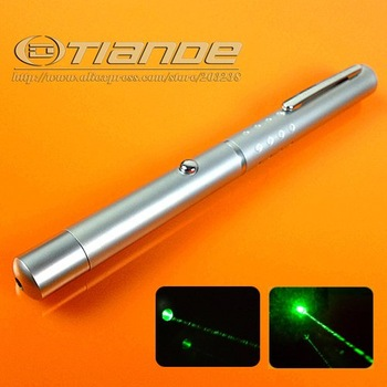 Single Beam 200mw green laser pointer  free shipping TD-GP-10